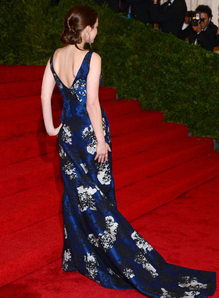 Bee Shaffer in blue Erdem dress Met Gala 2012