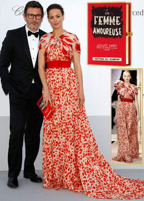 Berenice Bejo Giambattista Valli Couture dress book clutch