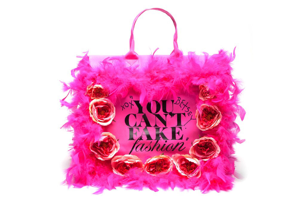 Betsey Johnson Can t Fake Fashion eBay CFDA Tote