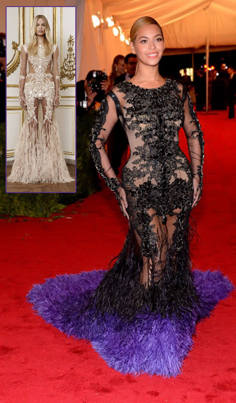 Beyonce Givenchy black dress Met Gala 2012
