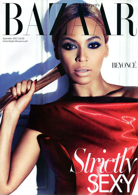 Beyonce Harpers Bazaar September 2011 cover by Alex Lubomirski