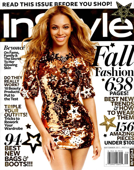 Beyonce InStyle September 2011 cover
