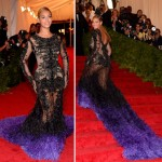 Beyonce black Givenchy couture dress Met Gala 2012
