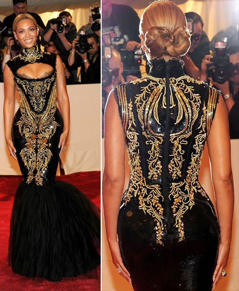 Beyonce black sequined Pucci dress Met Gala 2011