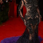 Beyonce in Givenchy black dress for Met Ball 2012