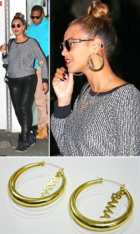 Beyonce s affordable golden Obama hoop earrings