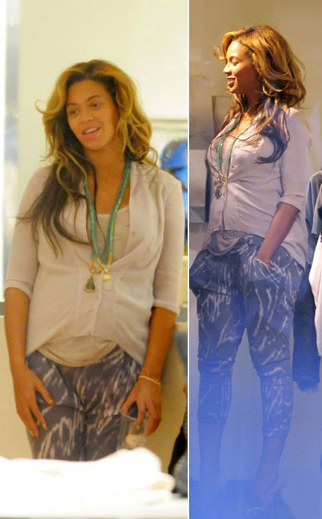 Beyonce Wearing Fake Baby Bump. On TV. Is Beyonce Really Pregnant?