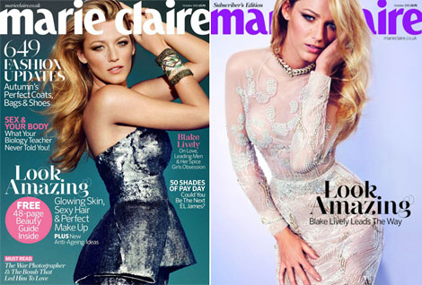 Blake Lively covers Marie Claire UK October 2012