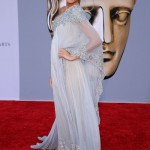 Blake Lively tanned and gorgeous in Marchesa dress