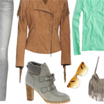 Bond Girl Inspired Outfit: 007 Shades Of Gray & Camel