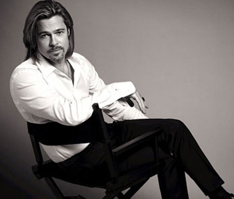 Brad Pitt Chanel No 5 campaign picture
