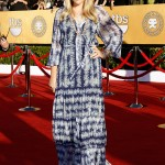 Busy Philipps blue and white boho dress 2012 SAG Awards
