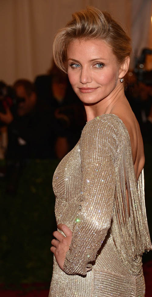 Cameron Diaz back dress detail Met Ball 2012