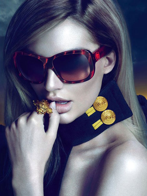 Candice Swanepoel Versace Eyewear ad campaign fall winter 2011 2012