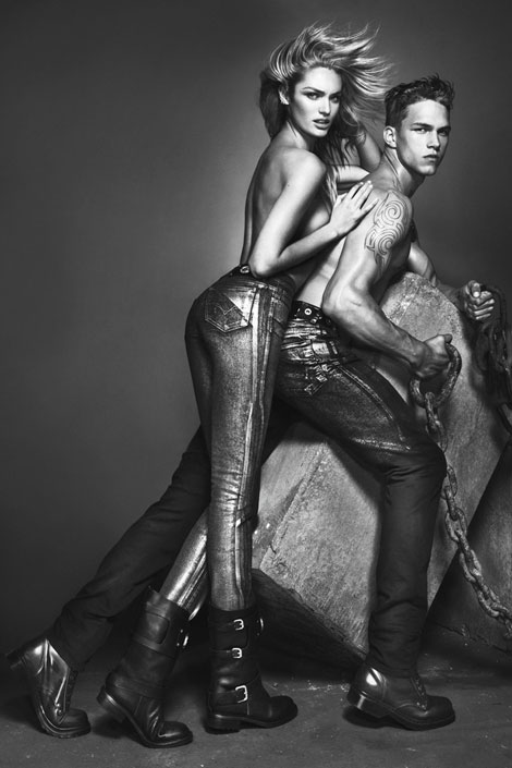 Candice Swanepoel's Versace Jeans Fall 2012 Ad Campaign