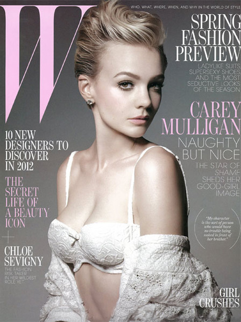 Carey Mulligan W Magazine January 2012 cover