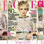 Carey Mulligan identical covers Vogue Elle Glamour