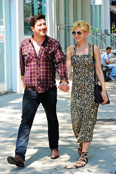 Carey Mulligan out with husband Marcus Mumford