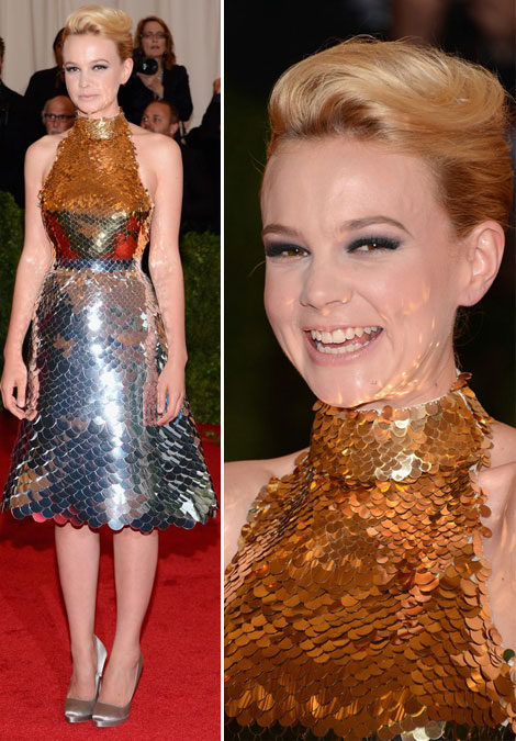 Carey Mulligan's Shiny Prada Dress For Met Gala 2012