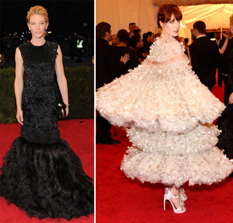Cate Blanchett, Florence Welch In  McQueen Dresses Met Gala 2012
