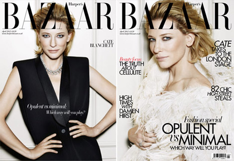 Cate Blanchett Harper s Bazaar April 2012 covers