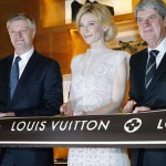 Cate Blanchett at Louis Vuitton store opening