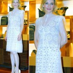 Cate Blanchett stunning in white Louis Vuitton