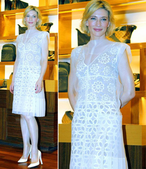 Cate Blanchett, Flawless In Louis Vuitton For Store Opening