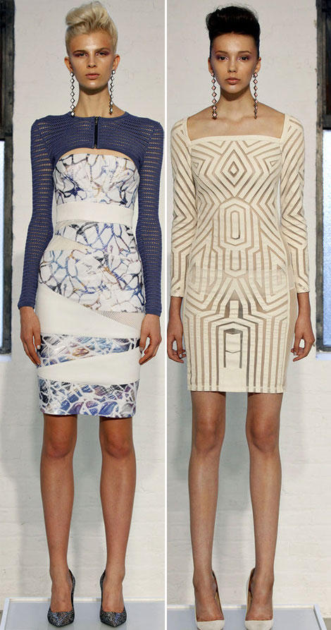 Textured, Edgy Cutouts: Catherine Malandrino Spring Summer 2013 Collection