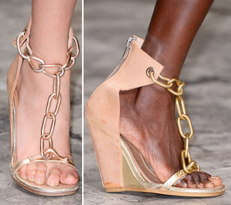 Chained sandals Rick Owens Spring 2013 5 Summer Fashion Staples From Rick Owens Spring 2013