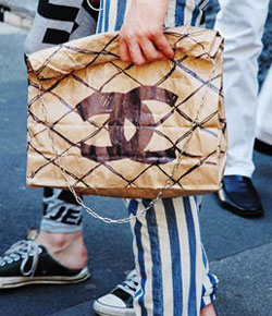 Chanel Quilted Paper bag