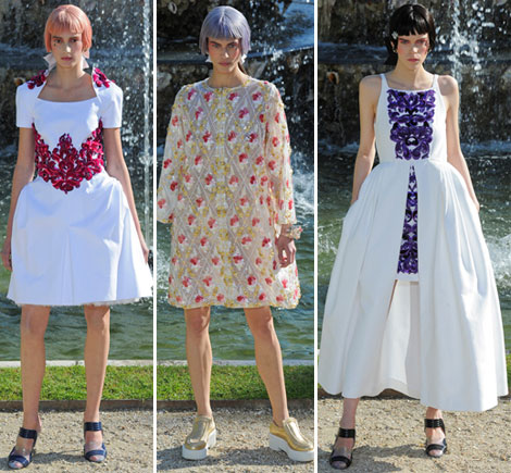 Chanel white dresses Cruise 2013 collection