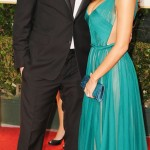 Channing Tatum wife Jenna Dewan teal dress 2012 Golden Globes