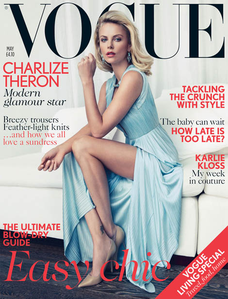 Charlize Theron Vogue UK May 2012 cover