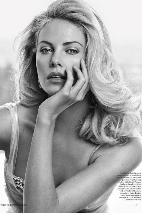 Charlize Theron Vogue UK May 2012 photo by Patrick Demarchelier