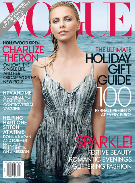 Charlize Theron Vogue US December 2011 cover
