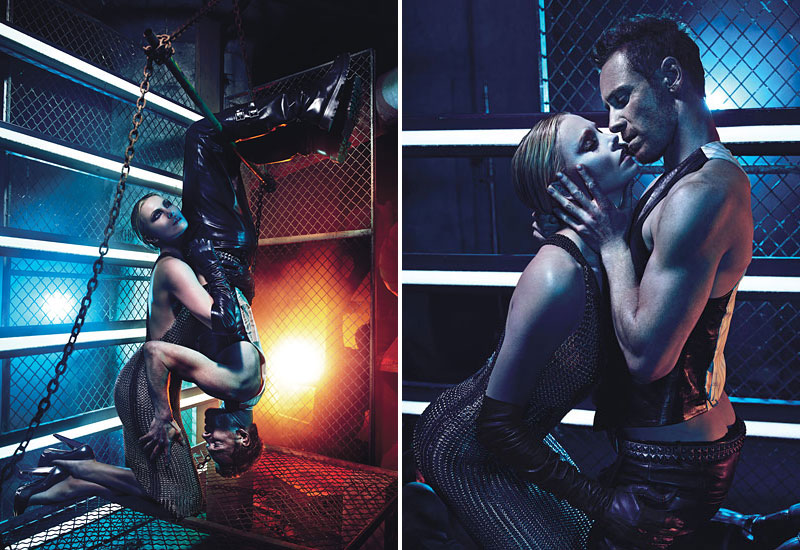 Charlize Theron hot with Michael Fassbender W