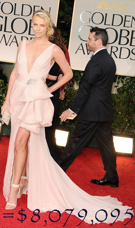 Charlize Theron's Golden Globes Look Costs $8,079,905