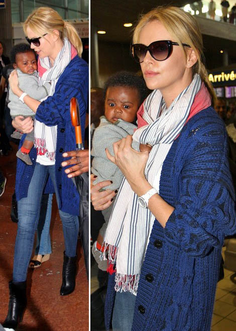 Charlize Theron with baby boy Jackson