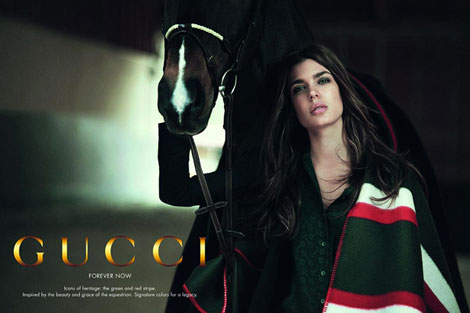 Charlotte Casiraghi Gucci Forever Now ad campaign