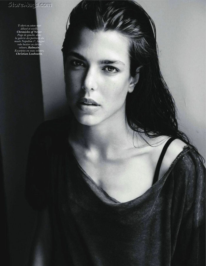 Charlotte Casiraghi portrait Vogue