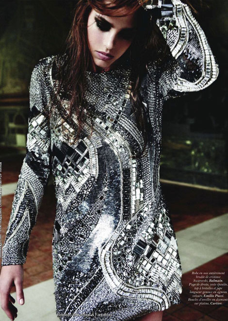 Charlotte Casiraghi silver dress Vogue