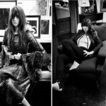 Charlotte Gainsbourg in her home for Oyster Magazine