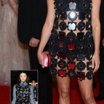 Chloe Sevigny Miu Miu black mirrored dress Met Gala 2012