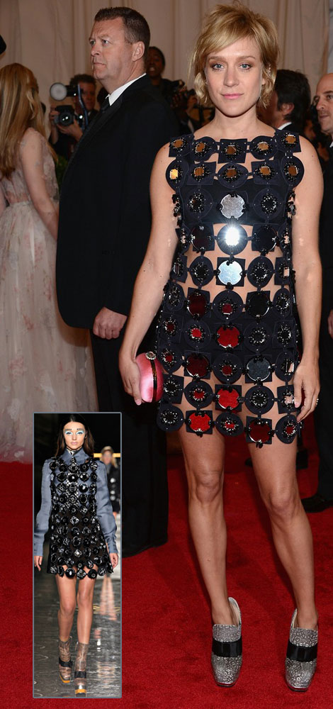 Chloe Sevigny In Miu Miu Black Dress For Met Gala 2012