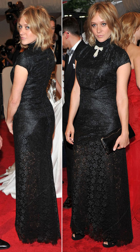 Chloe Sevigny black lace McQueen dress Met Gala 2011