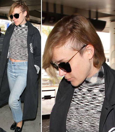 Chloe Sevigny's Latest Haircut: Side Shaved Hipster!