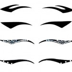 Christian Dior black eyeliner stickers collection