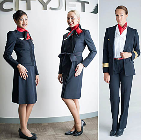 Christian Lacroix makes uniforms for CityJet flight attendants