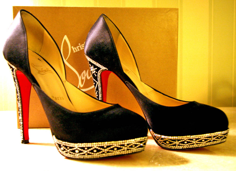 905121df2c3 Christian Louboutin Swarovski shoes still looking as new ...